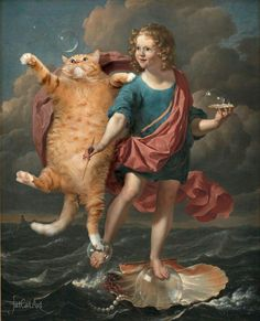Karel Dujardin, Boy Blowing Soap Bubbles and Cat hunting for them. Allegory on the Transitoriness an by Svetlana Petrova on Curiator, the world's biggest collaborative art collection. I Love Cats, Crazy Cats, Cool Cats, Fat Cats, Cats And Kittens, Kitty Cats, Bubble Cat, Photos Originales, Soap Bubbles
