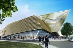 Centre de Congrès in Mons, Belgium.  Photo: Libeskind
