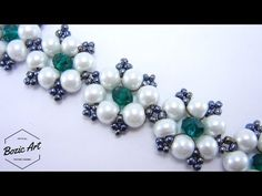 Twisted herringbone flower bud bracelet tutorial - YouTube