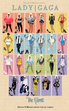 Lady Gaga Outfits - The Fame by Marisflowers on deviantART