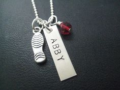 Sterling Silver PERSONALIZED Running Necklace with by TheRunHome, $38.00