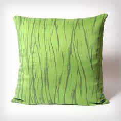 Avocado Silk Pillow Cover 20x20 Hand Dyed Shibori by OhSuzanni