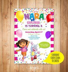 Printable dora the explorer birthday invitation - Dora boots birthday invitation - Dora party invitation - Digital dora invitation on Etsy, $8.00