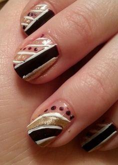 Purple Geometric Nails by Kayla W.