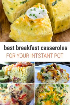 Instant Pot Breakfast Casserole - Our favourite recipes from around the web. From classic quiche to French toast, we have the best hearty, delicious Instant Pot breakfast casserole dishes to batch cook your morning meal easy. Best Breakfast Casserole, Breakfast Recipes, Breakfast Dishes, Brunch Recipes, Breakfast Ideas, Bacon Breakfast, Free Breakfast, Vegan Breakfast, Recipes Dinner