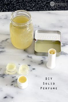 Making your own customized solid perfume is easy and inexpensive, AND it won't spill in your purse! It also makes a fantastic gift! :-)