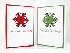 Snowflake Punch Button Card & 12 Weeks of Christmas - DOstamping with Dawn, Stampin' Up! Demonstrator