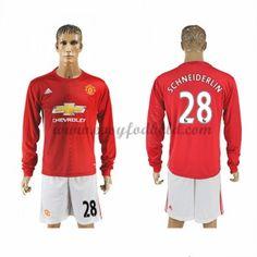 Fodboldtrøjer Premier League Manchester United 2016-17 Schneiderlin 28 Hjemmetrøje Langærmede