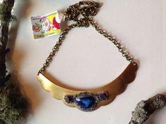 Chalsopyrite aventurine and cobalt blue druzy by NaturalGLOdesigns, $40.00