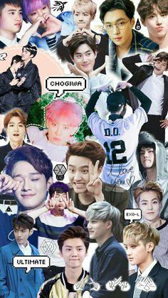 EXO Wallpaper by:chanyoongi Kpop Exo, Exo Kokobop, Exo 12, Baekhyun, K Pop, Got7, Memes Exo, Exo Songs, Exo Music