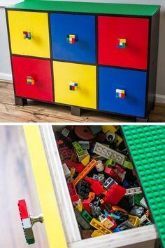 Une commode pour le rangement des LEGO