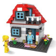 Kid Children House Doll Building Blocks Developmental Educational Toy DIY Craft Creative
