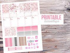 Printable Planner Stickers Cherry Blossom Japanese Japan   Happy Planner Glam Planning Pink Floral  Vertical Made EasyFor Erin Condren von LaceAndLogos auf Etsy https://www.etsy.com/de/listing/259930410/printable-planner-stickers-cherry