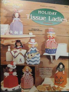 Holiday Tissue Ladies Plastic Canvas Leaflet by the Needlecraft Shop #PlasticCanvasLeaflet