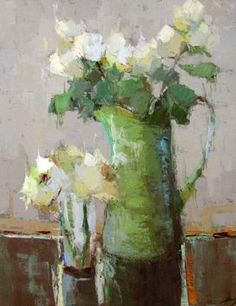 Vintage French Soul ~ ❀ Blooming Brushwork ❀ - garden and still life flower paintings - Barbara Flowers Paintings I Love, Beautiful Paintings, Flower Paintings, Art Floral, Art And Illustration, Still Life Flowers, Still Life Art, Abstract Flowers, Art Plastique