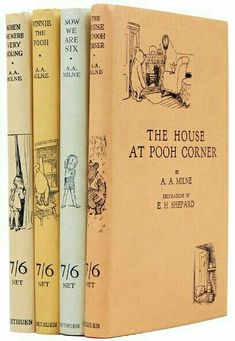 for Photo Fine first edition copies of all four Pooh books.Caption for Photo Fine first edition copies of all four Pooh books. Winnie The Pooh Nursery, Winnie The Pooh Friends, Vintage Winnie The Pooh, I Love Books, Good Books, My Books, Reading Books, Will Turner, House At Pooh Corner