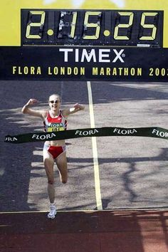 my idol Paula Radcliffe the best and fastest marathon runner ever to race in women's sport.