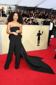 Actor Yara Shahidi attends the 24th Annual Screen Actors Guild Awards at The Shrine Auditorium on January 21, 2018 in Los Angeles, California. 27522_017