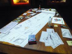 Artist work table