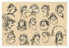 Aardmen's The Pirates! Model Sheets - Pirates