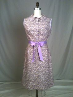 Lilac Calico Shirtdress by GreenBowDesigns on Etsy, $125.00 super cute!!