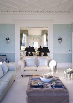 Living Room Blue Photo