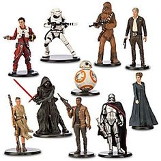 Disney Star Wars: The Force Awakens Deluxe Figure Play Set | Disney StoreStar Wars: The Force Awakens Deluxe Figure Play Set - From mysterious villain Kylo Ren to heroic rogue Han Solo, enhance your collection with this deluxe set of 10 highly detailed figures of the heroes and villains from <i>Star Wars: The Force Awakens.</i>