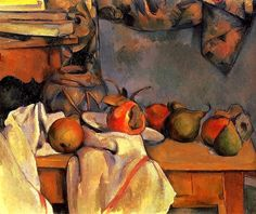 Still-Life with Pomegranate and Pears - Paul Cezanne