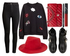 """street style"" by sisaez ❤ liked on Polyvore featuring H&M, rag & bone, Chanel, Bobbi Brown Cosmetics and NARS Cosmetics"