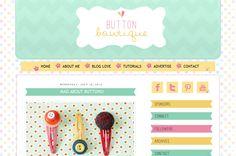 Button Boutique Pre-made Blogger Template
