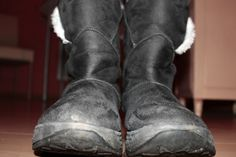 Water and vinegar: That's all it takes to clean salt stains off of leather or suede shoes.