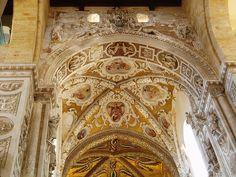 Norman Vault, Baroque Decoration Cefalu Cathedral, Sicily    by Aidan McRae Thomson, via Flickr