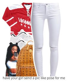 """"""""""" by dopest-queens ❤ liked on Polyvore featuring MCM and ONLY"""