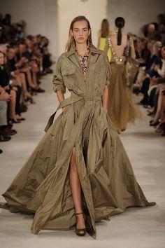 Short skirt and a loooooong- trench coat from Ralph Lauren♡