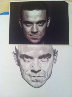 My Robbie Williams drawing, this was also shown at the Potteries Art Gallery in Stoke on Trent