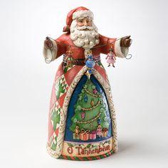 Jim Shore Heartwood Creek From Enesco O Tannenbaum Santa Figurine In Christmas Gifts