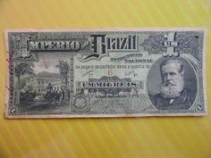 Rara Cédula do Império do Brasil de 1 Mil Réis de 1888 - R016 AMOSTRA