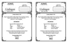 Kalo mau buat undangan tahlil tinggal download trus edit trus print dehh..  kertas ukuran F4 (hvs) Microsoft Excel, Microsoft Office, Words, Ms, Horse