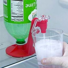 Forever Fizz...neat 2 liter dispenser that keeps drinks carbonated longer