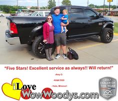 """Five Stars! Excellent service as always! Will return!"" Amy O. Hale, Missouri"