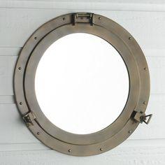 Nautical Bathroom Mirrors, Nautical Mirror, Rustic Mirrors, Bathroom Ideas, Nautical Bathroom Design Ideas, Pool Bathroom, Downstairs Bathroom, Bathroom Remodeling, Bathroom Inspiration