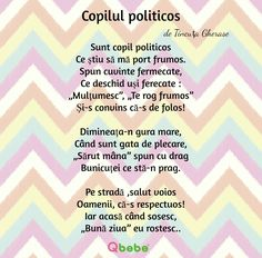 Copilul politicos Preschool Learning Activities, Preschool Crafts, Kids Learning, Crafts For Kids, Homework Sheet, Kids Poems, Kids Education, Nursery Rhymes, Kids And Parenting