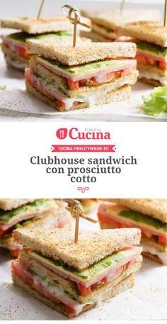 Clubhouse #sandwich con #prosciutto cotto