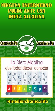 NINGUNA ENFERMEDAD PUEDE ANTE UNA DIETA ALCALINA. #alcalina #salud