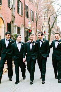 Groomsmen: http://www.stylemepretty.com/little-black-book-blog/2015/03/19/elegant-winter-boston-state-room-wedding/ | Photography: Kelly Dillon - http://kellydillonphoto.com/