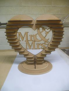 Our Ferrero Rocher heart stand, before we paint it.....