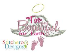 Too Beautiful for Earth - Applique