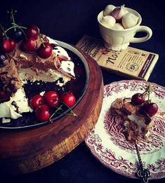Cherries, Bailey's and Chocolate Pavlova Chocolate Pavlova, Baileys, Cherries, Acai Bowl, Breakfast, Food, Maraschino Cherries, Acai Berry Bowl, Morning Coffee