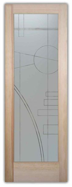 etched glass art deco door interval frosted glass doors