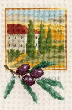 Buy Black Olive Grove Cross Stitch Kit Online at www.sewandso.co.uk